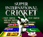 Super International Cricket title screenshot