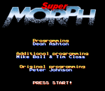 Super Morph title screenshot