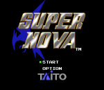 Super Nova title screenshot