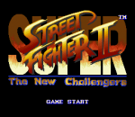 Super Street Fighter 2 - The New Challengers title screenshot