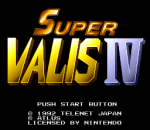Super Valis IV title screenshot