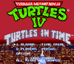 Teenage Mutant Ninja Turtles IV - Turtles in Time title screenshot
