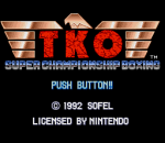 TKO Super Championship Boxing title screenshot
