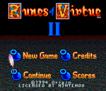 Ultima - Runes of Virtue II title screenshot