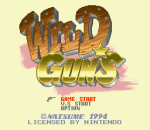 Wild Guns title screenshot