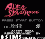 Alien Syndrome title screenshot