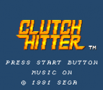 Clutch Hitter title screenshot