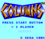 Columns title screenshot