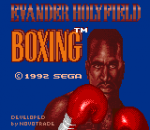 Evander Holyfield Boxing title screenshot