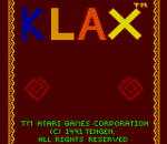 Klax title screenshot