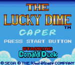 Lucky Dime Caper, The title screenshot