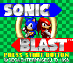 Sonic Blast title screenshot