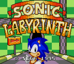 Sonic Labyrinth title screenshot