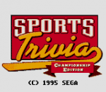 Sports Trivia - Championship Edition title screenshot