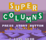Super Columns title screenshot