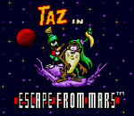 Taz in Escape from Mars title screenshot