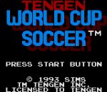 Tengen World Cup Soccer title screenshot