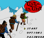 Tintin in Tibet title screenshot