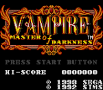 Vampire - Master of Darkness title screenshot