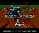 BattleTech - A Game of Armored Combat title screenshot