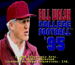 Bill Walsh College Football 95 title screenshot