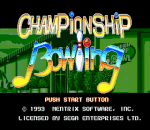 Championship Bowling title screenshot