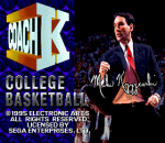 Coach K College Basketball title screenshot