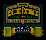 College Football's National Championship title screenshot