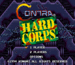Contra - Hard Corps title screenshot
