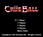 Crue Ball - Heavy Metal Pinball title screenshot