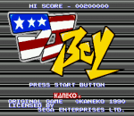 DJ Boy title screenshot