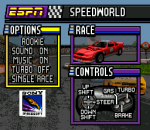 ESPN Speed World title screenshot