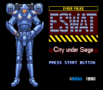 ESWAT - City Under Siege title screenshot