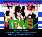 Jennifer Capriati Tennis title screenshot