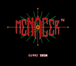 Menacer 6-Game Cartridge title screenshot