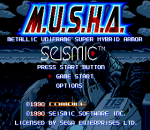 MUSHA - Metallic Uniframe Super Hybrid Armor title screenshot