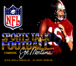 NFL Sports Talk Football '93 Starring Joe Montana title screenshot