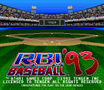 R.B.I. Baseball '93 title screenshot