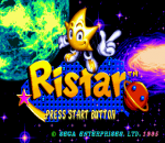 Ristar title screenshot