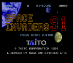 Space Invaders '91 title screenshot