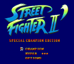 Street Fighter II' - Special Champion Edition title screenshot