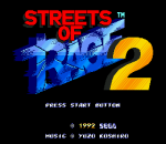 Streets of Rage 2 title screenshot
