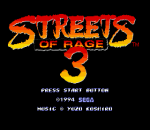 Streets of Rage 3 title screenshot