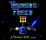 Thunder Force III title screenshot