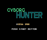 Cyborg Hunter title screenshot