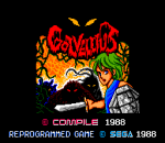 Golvellius title screenshot