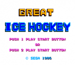 Great Ice Hockey title screenshot