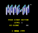 Hang-On title screenshot