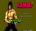 Rambo - First Blood Part II title screenshot