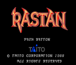 Rastan title screenshot